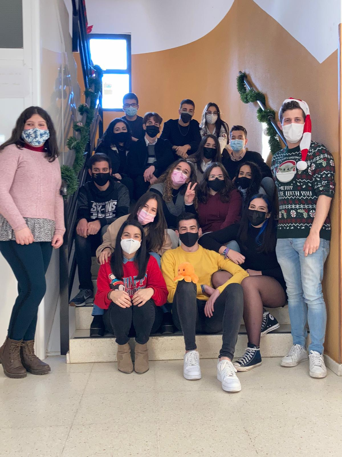 Ganadores del concurso de villancico:2º Bachillerato de Ciencias Sociales.