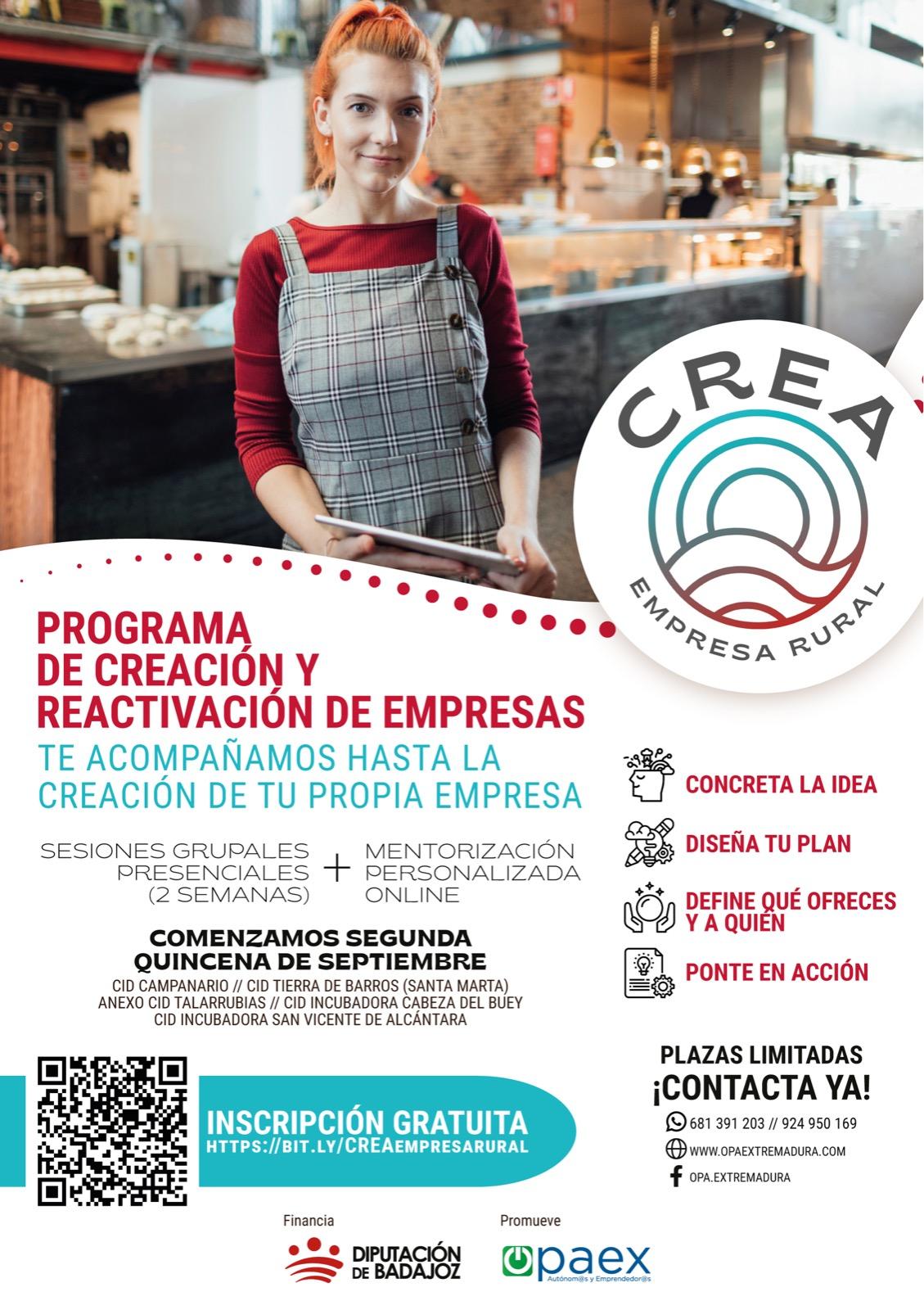 Programa de creación y reactivación de empresas.
